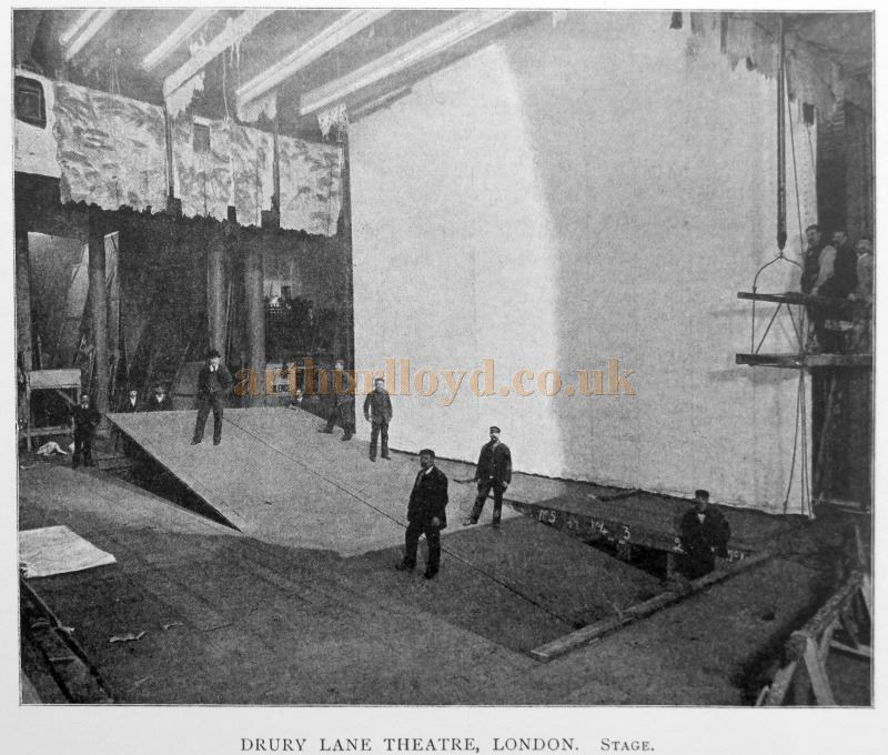 The Drury Lane Lifts in action in the late 1890s - From 'Modern Opera Houses and Theatres' by Edwin O Sachs, Published 1896-1898, and held at the Library of the Technical University (TU) in Delft - Kindly sent in by John Otto.