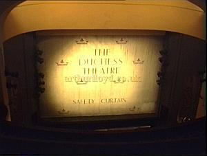 The safety curtain at the Duchess Theatre in the 1990s. - Photo M.L.