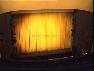 The stage and Proscenium of the Duchess Theatre in the 1990s. - Photo M.L.