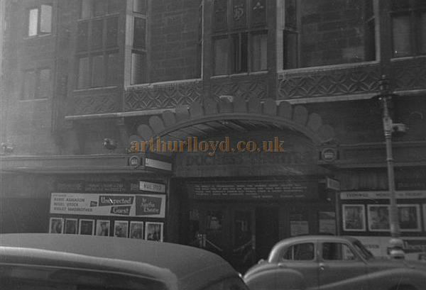 The Duchess Theatre during the run of 'The Unexpected Guest ' in 1958 - Courtesy Gerry Atkins
