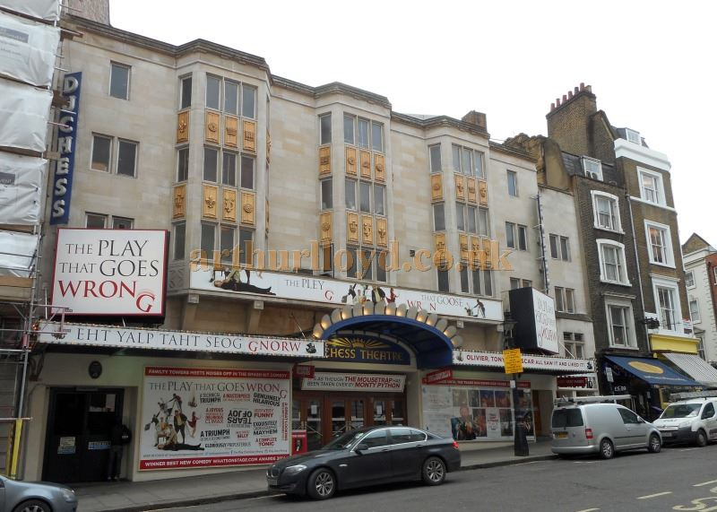 The Duchess Theatre during the run of 'The Play That Goes Wrong' in February 2015 - Photo M.L.