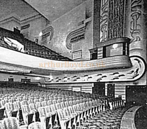 An early photograph of the auditorium of the Dudley Hippodrome - Courtesy the RF Collection.