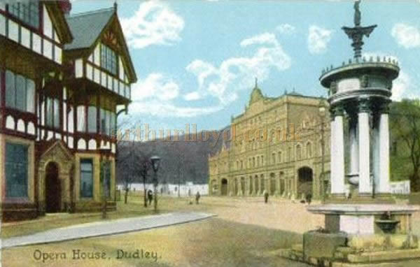 An early Postcard showing the Opera House, Dudley in 1905.