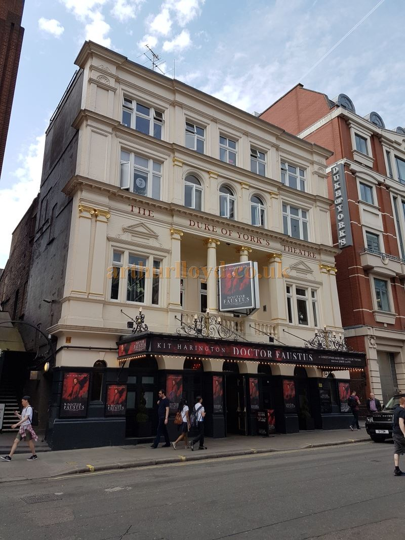 The Duke Of York's Theatre during the run of 'Doctor Faustus' in May 2016.