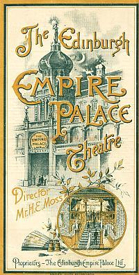 Empire Palace Programme 1897 - Click to visit the Edinburgh Empire page on this site.