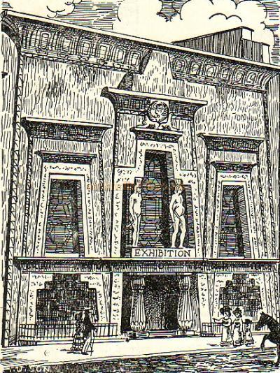 The Egyptian Hall in London's Piccadilly