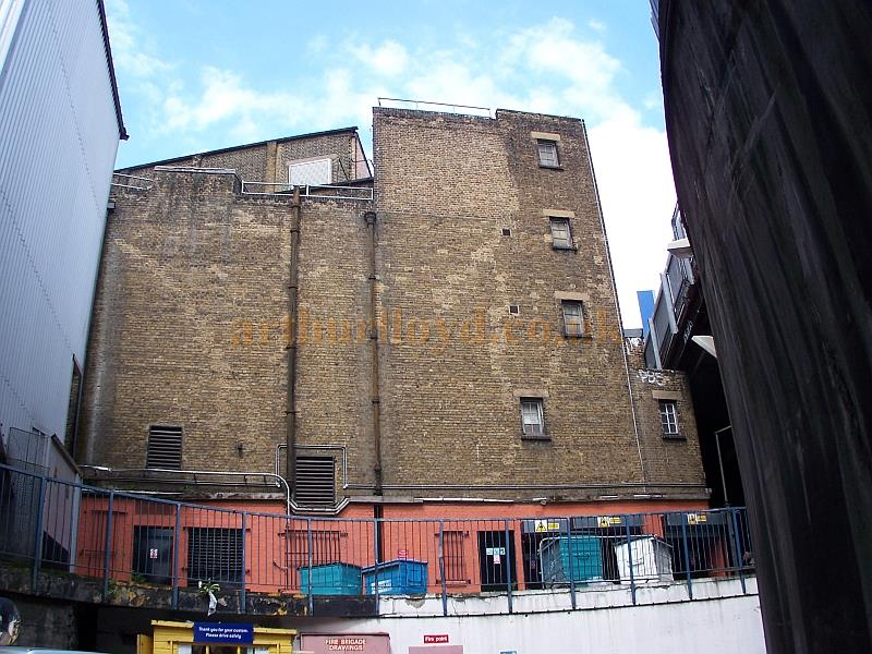 The Rear Elevation of the Coronet Theatre, formerly the Elephant and Castle Theatre, in a photograph taken in 2008 - Photo M.L.