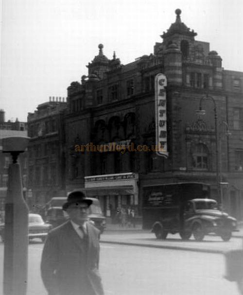 The old Euston Palace of Varieties whilst in use as a Cinema called the Century in a photograph taken from the street outside St Pancras Station in the mid to late 60's - Courtesy Shamus Dark.