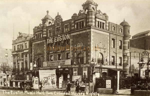 The Euston Theatre of Varieties - From an early Postcard