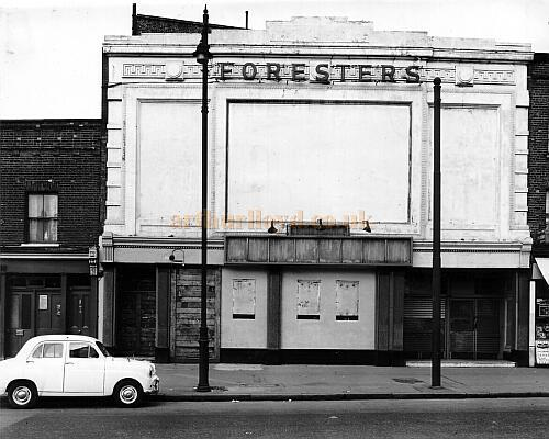 Forresters Music Hall many years after its closure - Courtesy Peter Charlton
