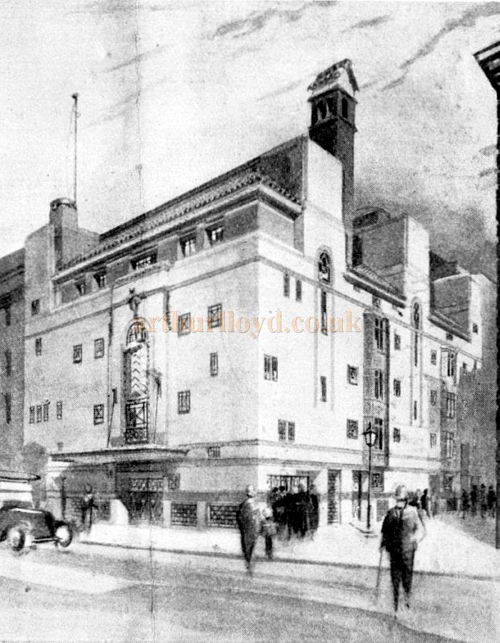A Sketch of the Fortune Theatre, Russell Street, London - From a programme for 'Are You A Mason' at the Theatre in February 1925