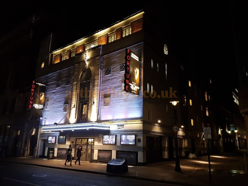 The Fortune Theatre during the run of 'The Woman In Black' in December 2016