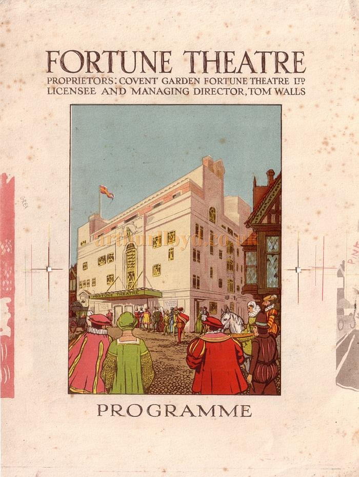An original 1920s Printers Proof for a programme cover for the Fortune Theatre