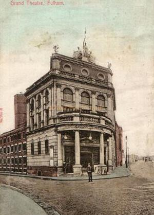 W. G. R. Sprague's Grand Theatre, Fulham - From an early postcard.