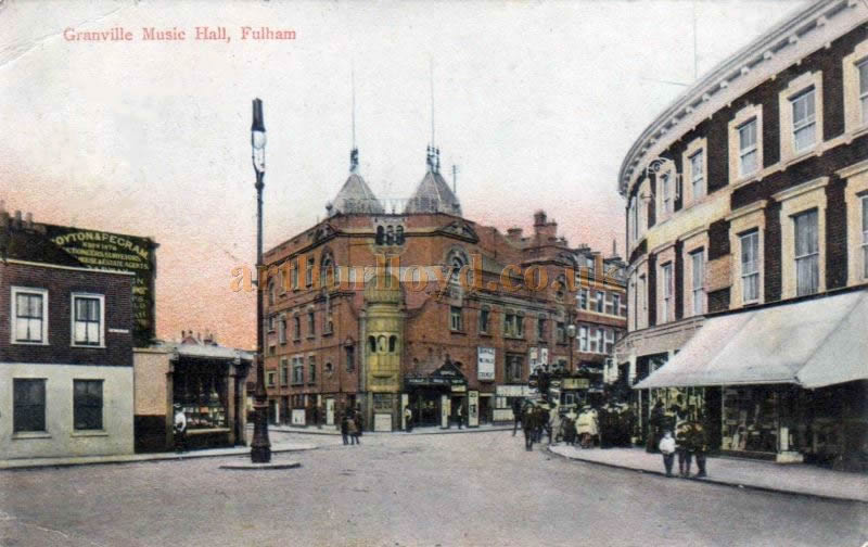 A postcard showing the Granville Music Hall, Fulham circa 1908 - Courtesy Sandra Chestney