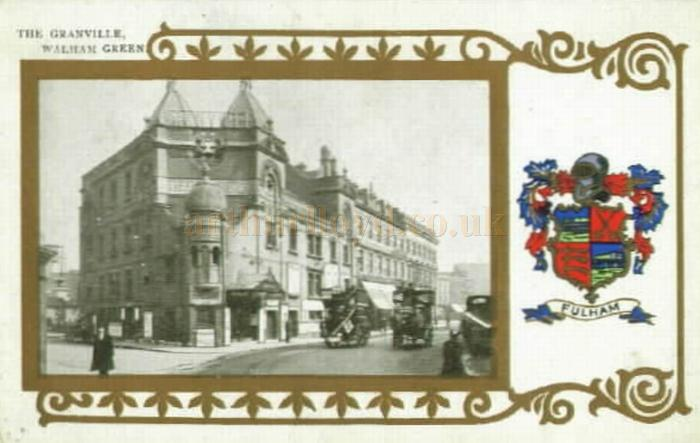 A postcard depicting the Granville Theatre, Walham Green, Fulham Broadway