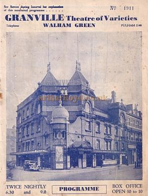 A variety programme for the Granville Theatre, Walham Green for January 17th 1938