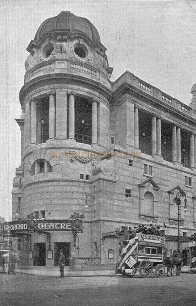 A Postcard of the Gaiety Theatre during it's first production, 'The Orchid' which opened on the 26th of October 1904.