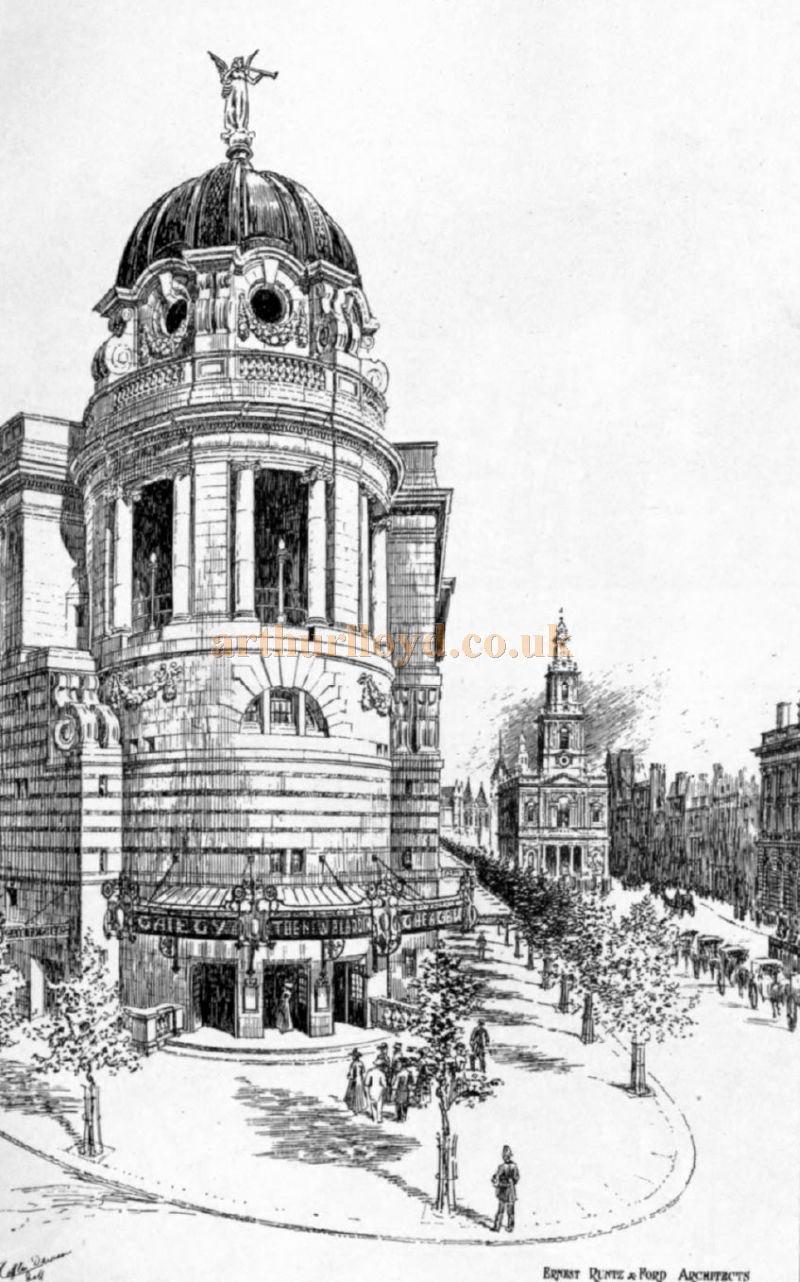Ernest Runtz & Ford Architects' Gaiety Theatre, London - From the 'Academy Architecture and Architectural Review' of 1907.