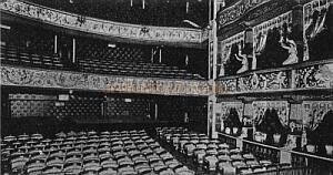 The auditorium of the second Gaiety Theatre - From 'The Lost Theatres Of London' Raymond Mander and Joe Mitchenson.