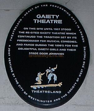 TheatreLand sign on the side elevation of The CityBank building 2003