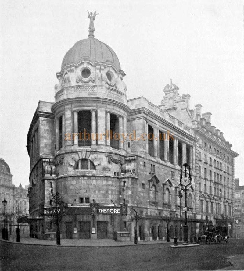The New Gaiety Theatre - From 'London Town Past and Present' Vol 2 by W. W. Hutchings 1909
