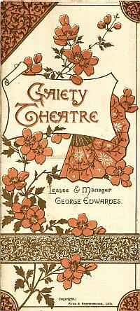 A programme for 'Carmen Up To Data' at the first Gaiety Theatre in 1890