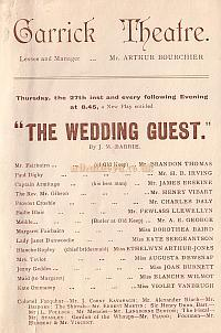Programme detail for ' The Wedding Guest' at The Garrick Theatre 1900.