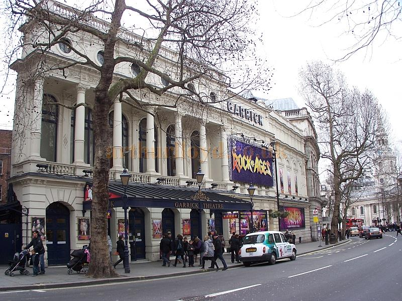 The Garrick Theatre during the run of 'Rock of Ages' in March 2013 - Photo M.L.
