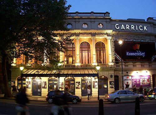 The Garrick Theatre whilst in production for 'Amy's View' in October 2006. - Photo M.L.