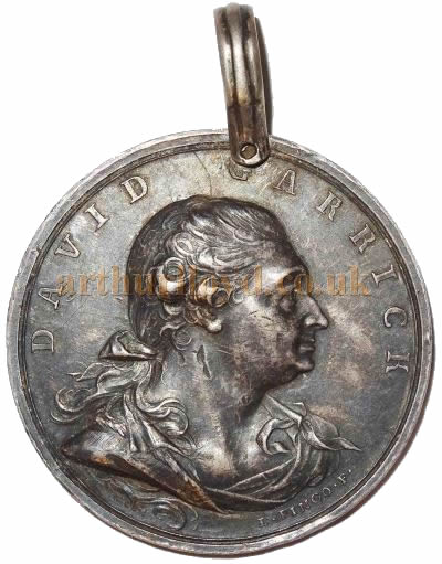 An Annual Garrick Medal here awarded to the actor Alexander Pope - Courtesy Alan Judd.