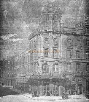 The Hicks Theatre  from a Programme for 'Brewster's Millions' in 1907.