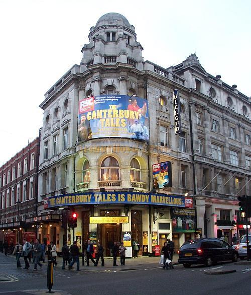 The Gielgud Theatre during the run of 'The Canterbury Tales' in October 2006. - Photo M.L.