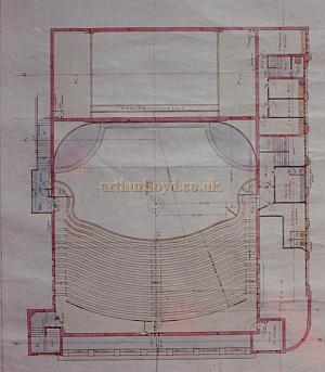 Bertie Crewe's original Gallery Plan of the Golders Green Hippodrome.