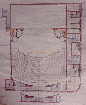 Bertie Crewe's original Circle Plan of the Golders Green Hippodrome.