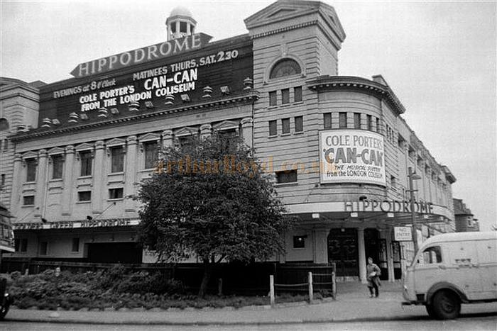 The Golder's Green Hippodrome during the run of 'Can-Can' at the Theatre on the 29th of October 1956 - Courtesy Gerry Atkins