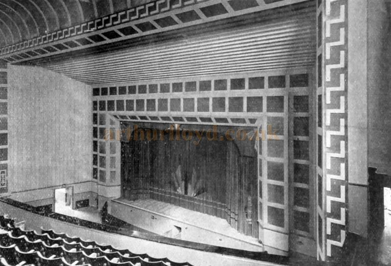 The auditorium of the Majestic Theatre, Gravesend - From The Bioscope, 7th of October 1931.