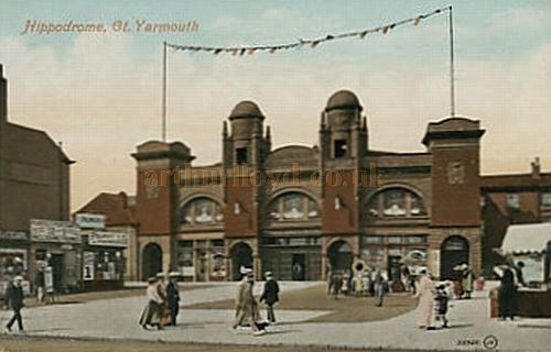An early postcard depicting the Great Yarmouth Hippodrome.