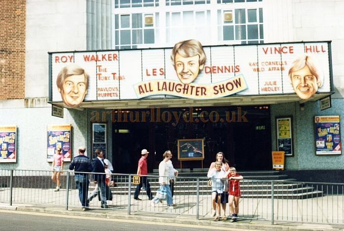 A photograph of the Regal Cinema, Great Yarmouth, during the run of the Les Dennis 'All Laughter Show' in 1986 - Courtesy Martin Hough