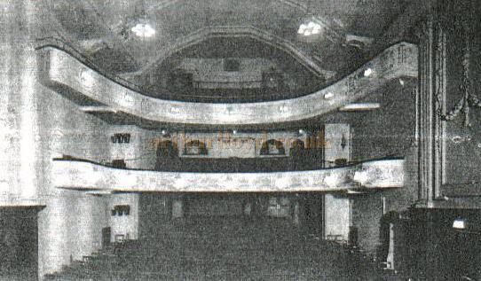 The Auditorium of the Theatre Royal, Guilford, from an old press cutting from the local newspaper files of the Guildford Library, and now in the Surrey Local History collection at Woking. - Courtesy Alan Chudley