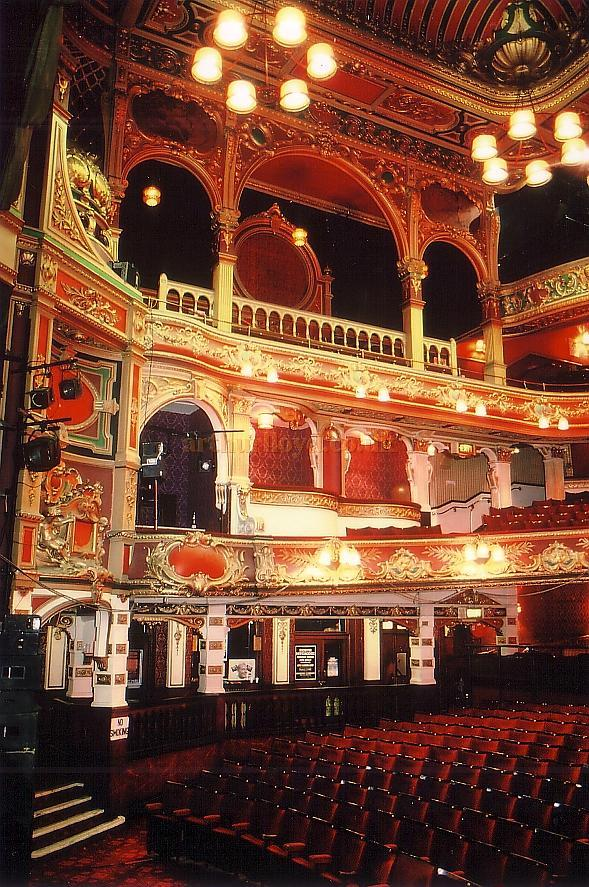 The Glorious Frank Matcham Auditorium of the Hackney Empire in 1988 - Courtesy Ted Bottle