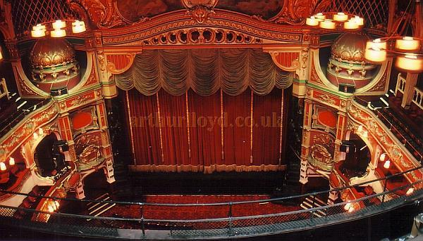 The Auditorium and Stage of the Hackney Empire in 1988 - Courtesy Ted Bottle