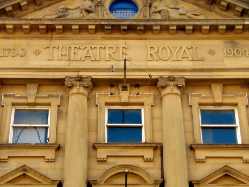 A Detail of the facade of the Theatre Royal, Halifax in October 2017 - Courtesy Philip Paine.