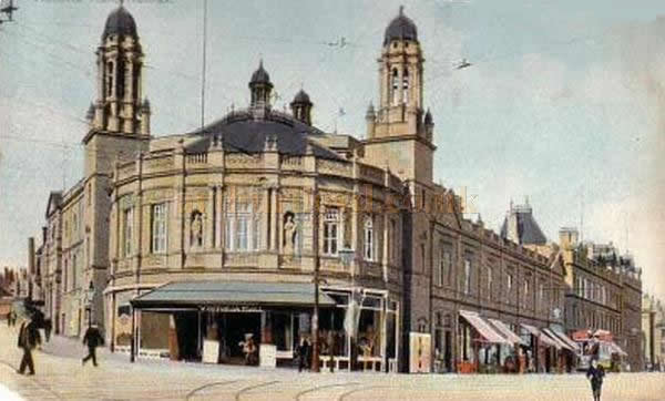 An early postcard of the Victoria Hall, later the Civic Theatre / Victoria Theatre