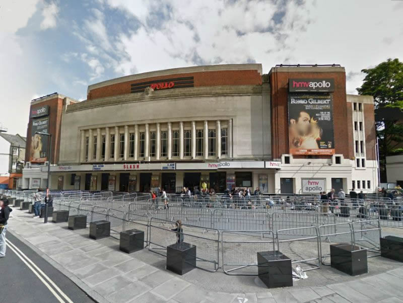 A Google StreetView Image of the Apollo, Hammersmith - Click to Interact