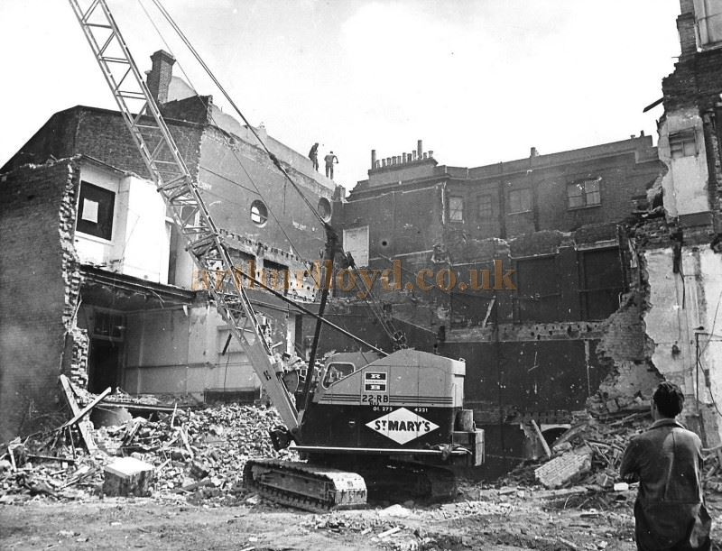 Demolition of the old Lyric Theatre, Bradmore Grove, Hammersmith in 1969 - Courtesy Vernon Burgess - Click for many more photographs from this set.