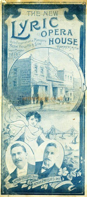 A programme for Gilbert & Sulivan's 'H.M.S. Pinafore' and 'After All' at the Lyric Opera House in December 1897 - Courtesy Alison Piano.