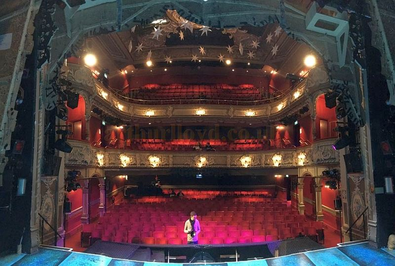 The Auditorium of the Lyric Theatre, Hammersmith during the run of the pantomime 'Jack & the Beanstalk' in December 2017 - Courtesy Kraig Thornber who played Dame Lotte Trottalot in the production.