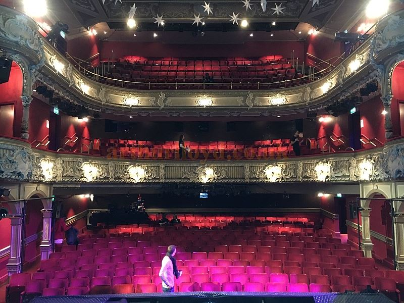 The Auditorium of the Lyric Theatre, Hammersmith during the run of the pantomime 'Jack & the Beanstalk' in December 2017 - Courtesy Kraig Thornber, who played Dame Lotte Trottalot in the production.