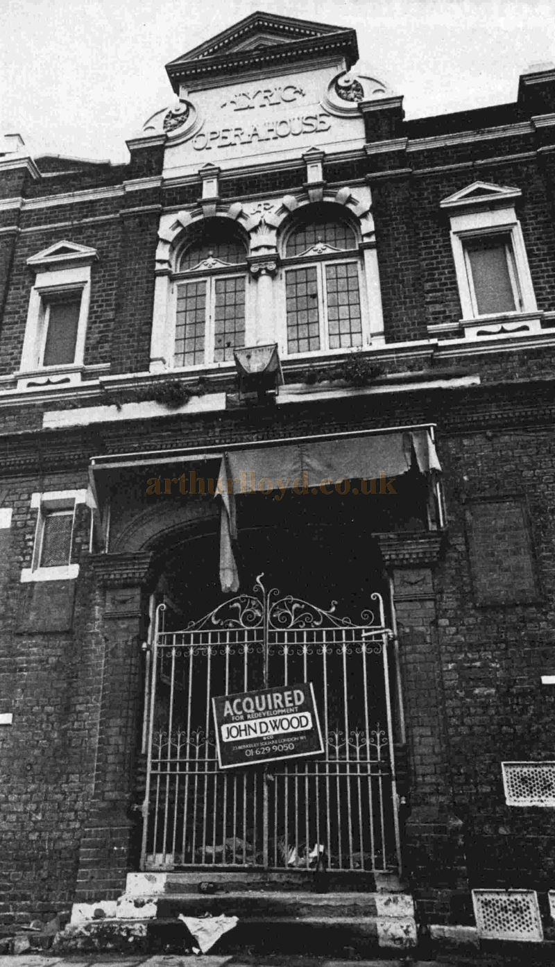 The Lyric Theatre, Hammersmith Closed and Awaiting Demolition in the late 1960s - From The ILN, June 1972.
